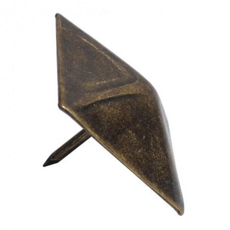 Ćwiek ozdobny piramida 2-40 złoto ant.