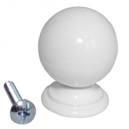 Gałka meblowa 25mm biała mod.60