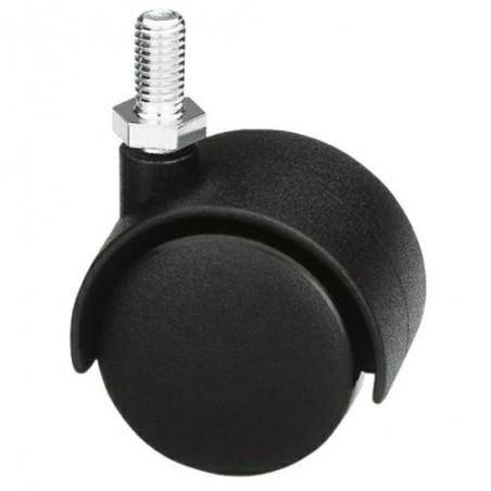 Kółko 1501-40 M6 nylon-czarne