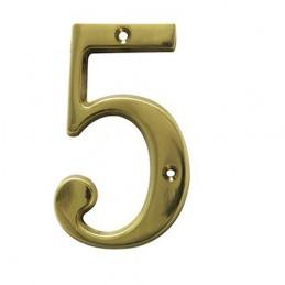 Numer 5 - 5cm mosiężny
