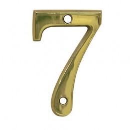 Numer 7 - 5cm mosiężny
