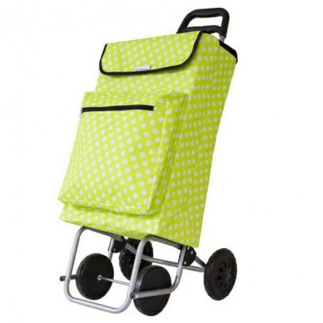 Wózek na zakupy termos 5-48l zielony/b w białe kropki - OSTATNIE SZTUKI W TEJ CENIE