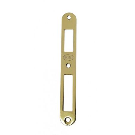 Zaczep zamka ALFA-BETA symetryczny 165x22 mosiądzowany