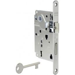 Zamek CENTRO 90/50 F18 klucz/ryg ch.mat