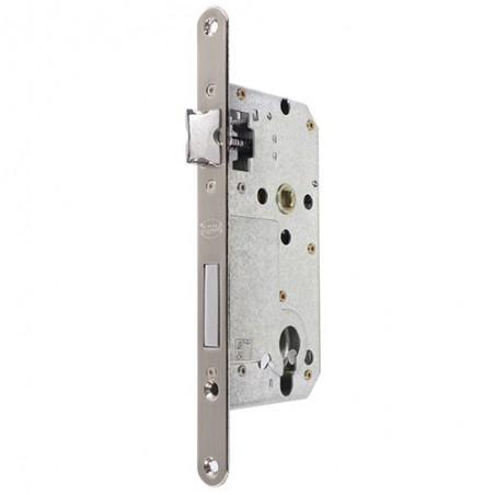 Zamek drzwiowy wkładka 72/50 czoło 18mm nikiel satyna ALFA