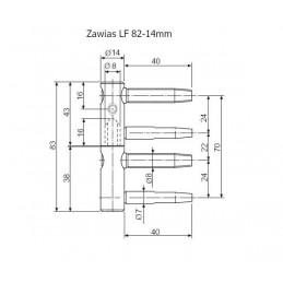 Zawias LF fi. 14x82mm...